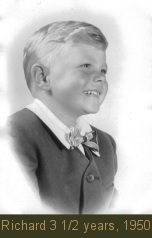 Richard Carpenter 3 1/2 years old, 1950